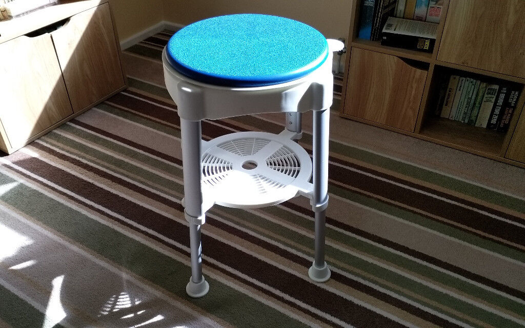 Adjustable Bath Stool with Rotating Seat - Medical Bathroom Shower ...