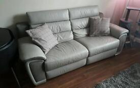 Grey 3 seater reclining sofa