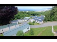 Immaculate 2 bedroom central heated caravan for sale including 2017 site fees in west Wales