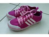 Girls Adidas Pumps. Pink / Purple. Size 3.