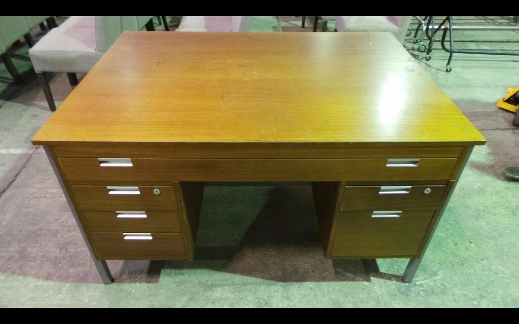 A large vintage retro writing - office work desk,Delivery Available