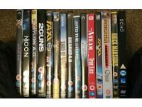 18 DVD films and movies. Mostly action