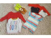 Great bundle of designer boys clothes 6-12 months include GAP & TED BAKER open to offers