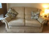 Sofa, reclining armchair and armchair
