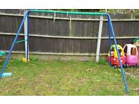 Kids swing/see saw set