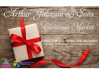 Currently taking stall bookings for Arthur Johnson & Sons Indoor Christmas Market