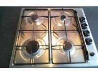 gas built in cooker,gas hob and extractor fan