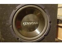 Kenwood Subwoofer & Amp for sale