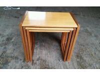 Solid Teak Retro Nest of Tables