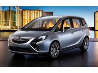 Vauxhall zafira tourer and insignia's PCo taxi lease hire weekly or monthly discounted