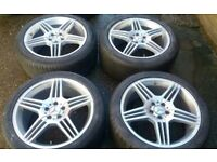 19 MERCEDES AMG STYLE TRIPLE SPOKE ALLOY WHEELS STAGGERED S E CLASS VITO VW T4