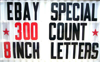 300 Changeable Flex Letters For Portable Outdoor Marquee Signs 8 On 8 78 Back