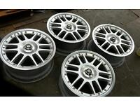 Oz f1 2 piece split alloy wheels 5x100 17 not bbs deep dish