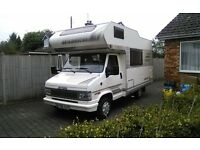 hymercamp 4 berth motorhome lefthand drive very well maintained inside and out