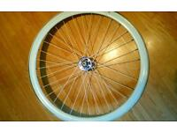 700c no logo front bike wheel. Fixie/ single speed
