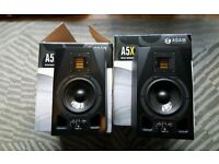 Adam A5X pair of speakers - 11 months old - used very infrequently - 2 year warranty