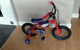 Reduced for quick sale New Ultimate spiderman kids bike 14 inch wheels