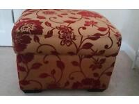 Red and Gold Coloured storage foot stool