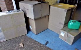 Selection of used cardboard boxes flat packed ideal for moving home/flat or online sales etc