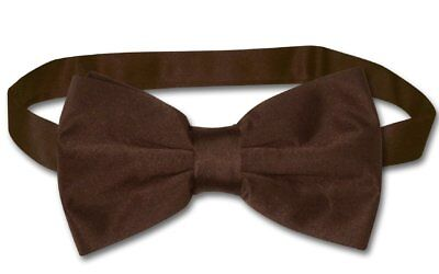 BOWTIE Solid CHOCOLATE BROWN Color Men's Bow Tie for Tux or Suit ()