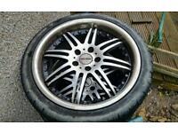 """18"""" Motec Antares alloy wheels 5x112 vw audi"""