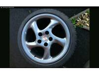 Porsche turbo twist alloys 17inch 4x100 conversion kit included