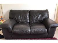 *FREE* Brown leather sofa