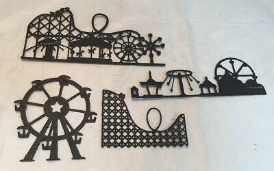 Deluxe Amusement Park Die Cut Assortment * 8 Pieces * 2 of Each Design * Black Die Cut Deluxe Designs