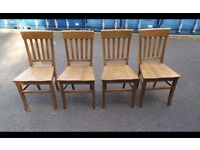 4X Solid Oak Chairs,Can Deliver