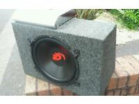 12inch 1000watt sub and 550watt audiobahn dub amp