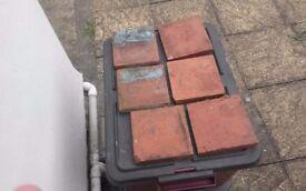 1930's quarry tiles x 12