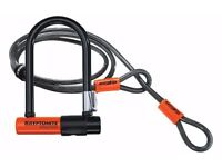 *New* Kryptonite Evolution Mini 7 Bike Lock with 4ft Flex Cable & Frame Bracket ��900 Guarantee