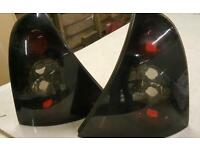 Renault clio smoked rear lights. Tinted black lights. . Alloys