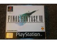 Final Fantasy 7 PS1 not ps4 ps3 Ps2 playstation xbox gamecube n64 snes megadrive