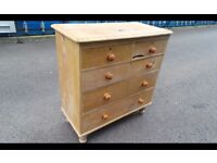 Two Antique Pine Chest of draws FOR RESTORATION,possible delivery