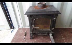 Harmony 13 cast black wood and multifuel stove