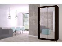 Lux 120 sliding wardrobe with mirror in OAK sonoma, WHITE, BLACK, GREY, WENGE storage, cabinet