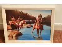 Beautiful horse&lake Indian picture