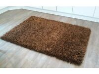 Thick pile chocolate rug - just reduced