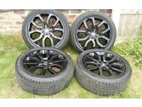 Genuine Land Rover Range Rover Evoque Dynamic 20 Inch Black Alloys With Tyres