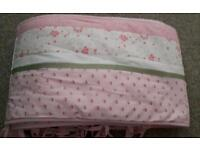 Girls Cot bed bumper (mothercare)