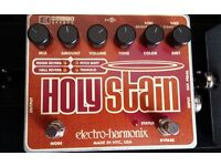 EHX electro harmonix Holy Stain reverb, tremolo, drive, fuzz, effects pedal
