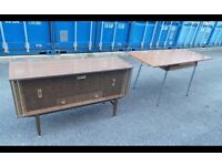 Retro Vintage Table With Sideboard,Can Deliver
