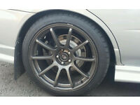 "18"" rota force alloys with tyres like new only done 200miles on motor"