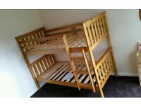Pine bunk bed with free assembly and delivery