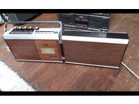 Vintage Sanyo Radio Tape Player Recorder Auto Level Recording M 4400F Portable