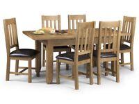 Stunning Oak Extending Dining Set, Table & 4 Chairs, Ex Display, ASTORIA