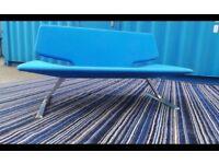 Quality Blue Fabric Sofa,Very Heavy