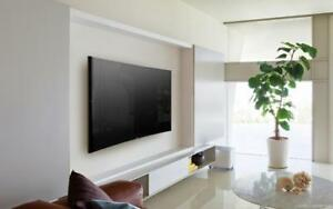 Installation de tv au mur - Support mural tv INCLUS