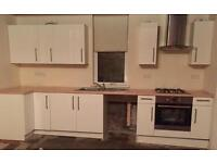 Kitchen units, oven, hob, extractor & sink